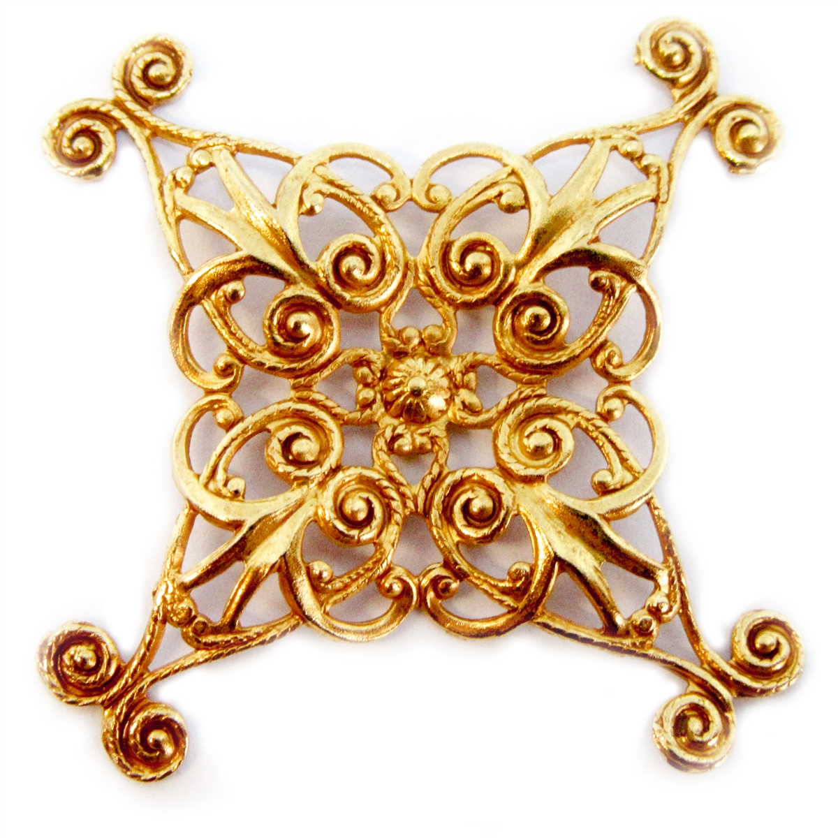 x shape style filigree classic gold plated filigree beading