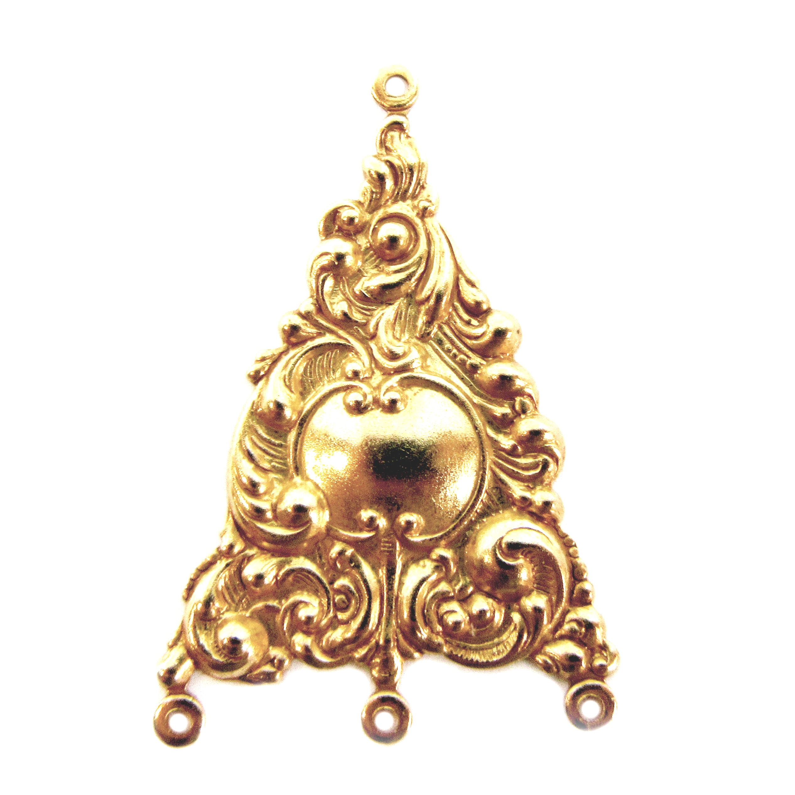 victorian gypsy ear drop, classic gold plated, gold, brass, brass stamping, ear drops, pendant, earrings, floral, victorian, gypsy, us made, nickel free, 31x25mm, jewelry supplies, vintage supplies, jewelry findings, leafy motif, jewelry making, 05034
