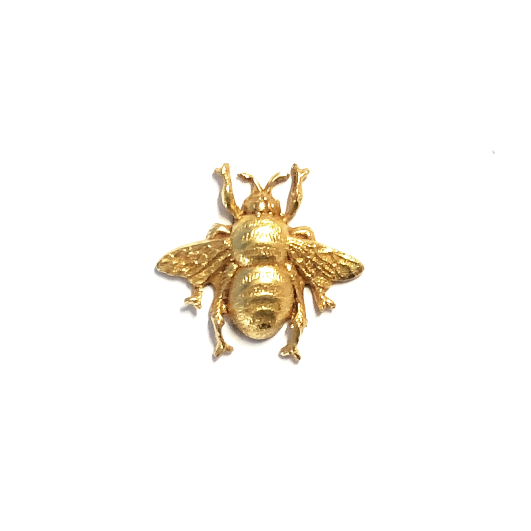 brass bees, bumble bees, classic gold, 05040, brass stampings, antique gold, jewelry making supplies, vintage jewelry supplies, US made, nickel free, bsue boutiqes, brass jewelry parts, brass insects