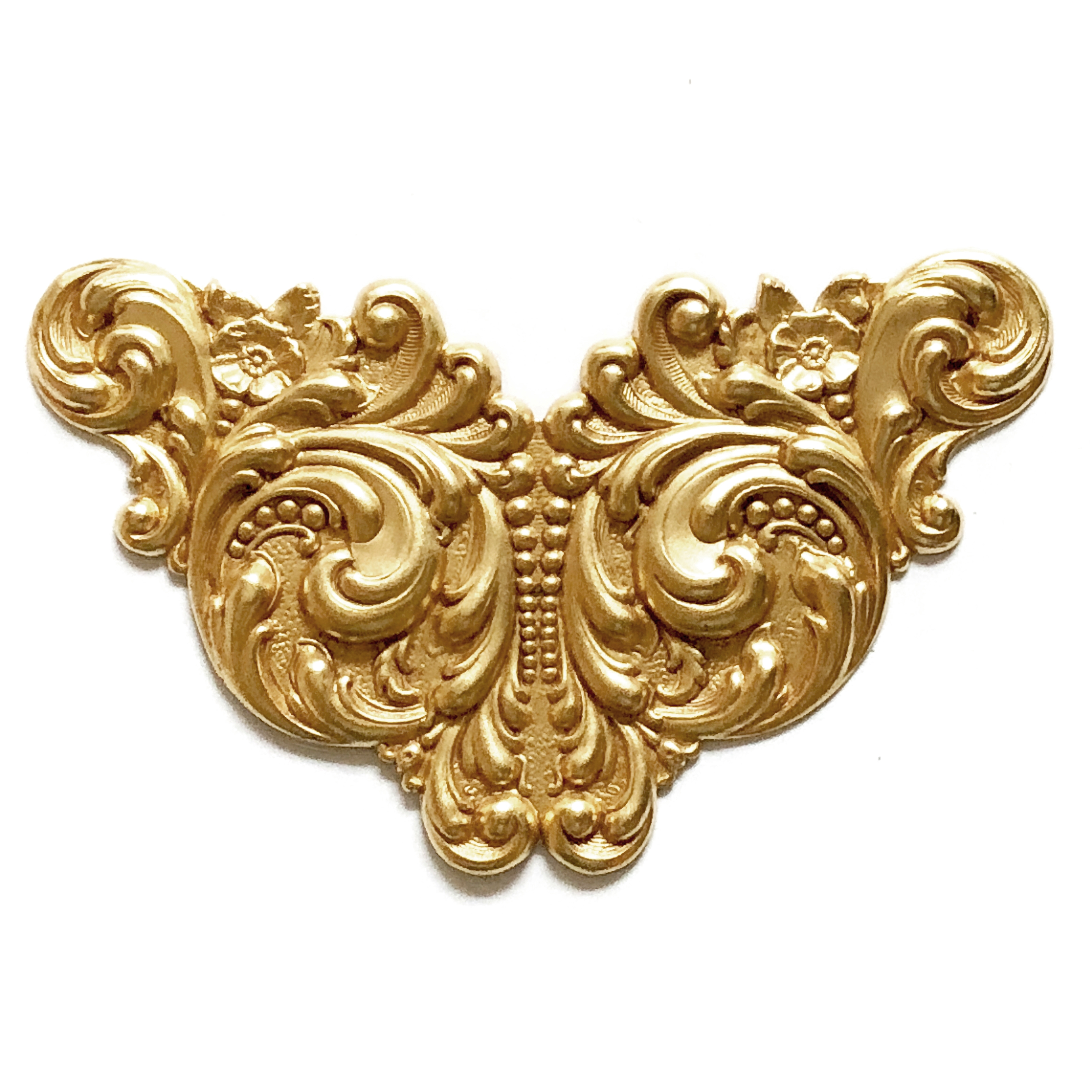 winged centerpiece, classic gold, 08462, antique gold, cinnamon accenting,  plaque, centerpiece, focal, jewelry supplies, Bsue Boutiques, US made, nickel free, Steampunk art,