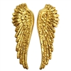 brass wings, gossamer wings, wing stampings, classic gold, 08466, steampunk art, jewelry making, vintage jewelry supplies, brass jewelry parts, US made, nickel free, Bsue Boutiques