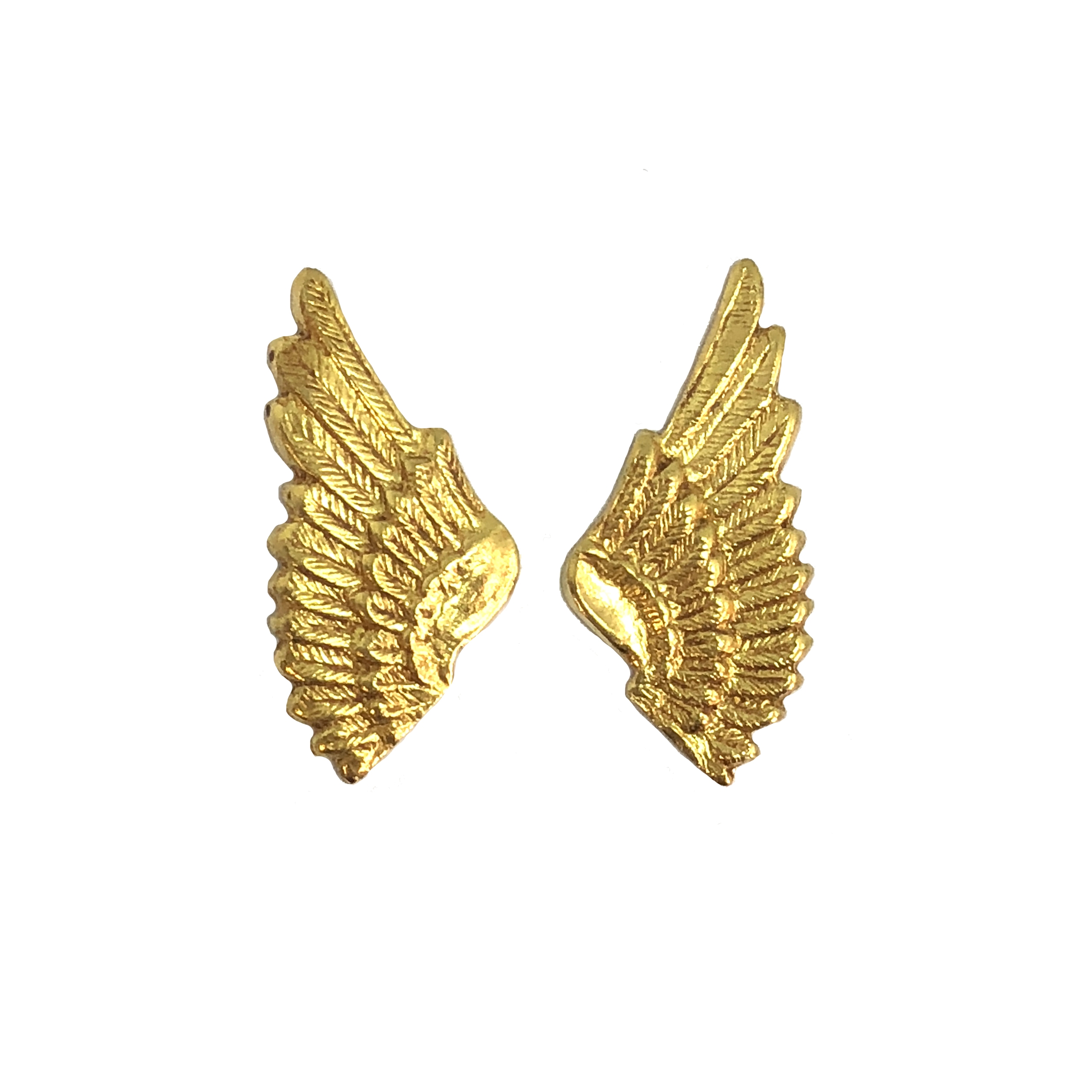 brass wings, bird wings, classic gold, 08468, gold, wings, small wings, vintage jewelry supplies, brass jewelry parts, jewelry making supplies, US made, nickel free, Bsue Boutiques