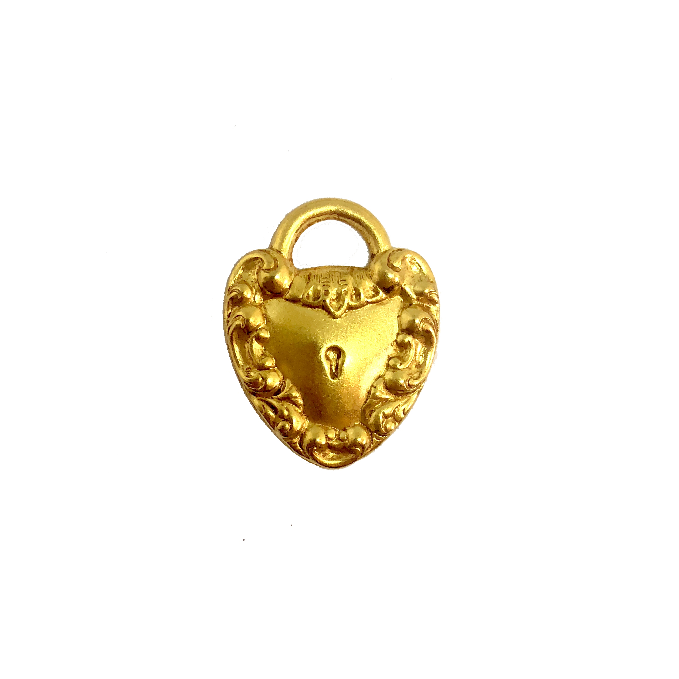 heart lock, heart charm, classic gold, 08485, gold, charm, lock, Bsue Boutiques, jewelry supplies, gold plated, heart