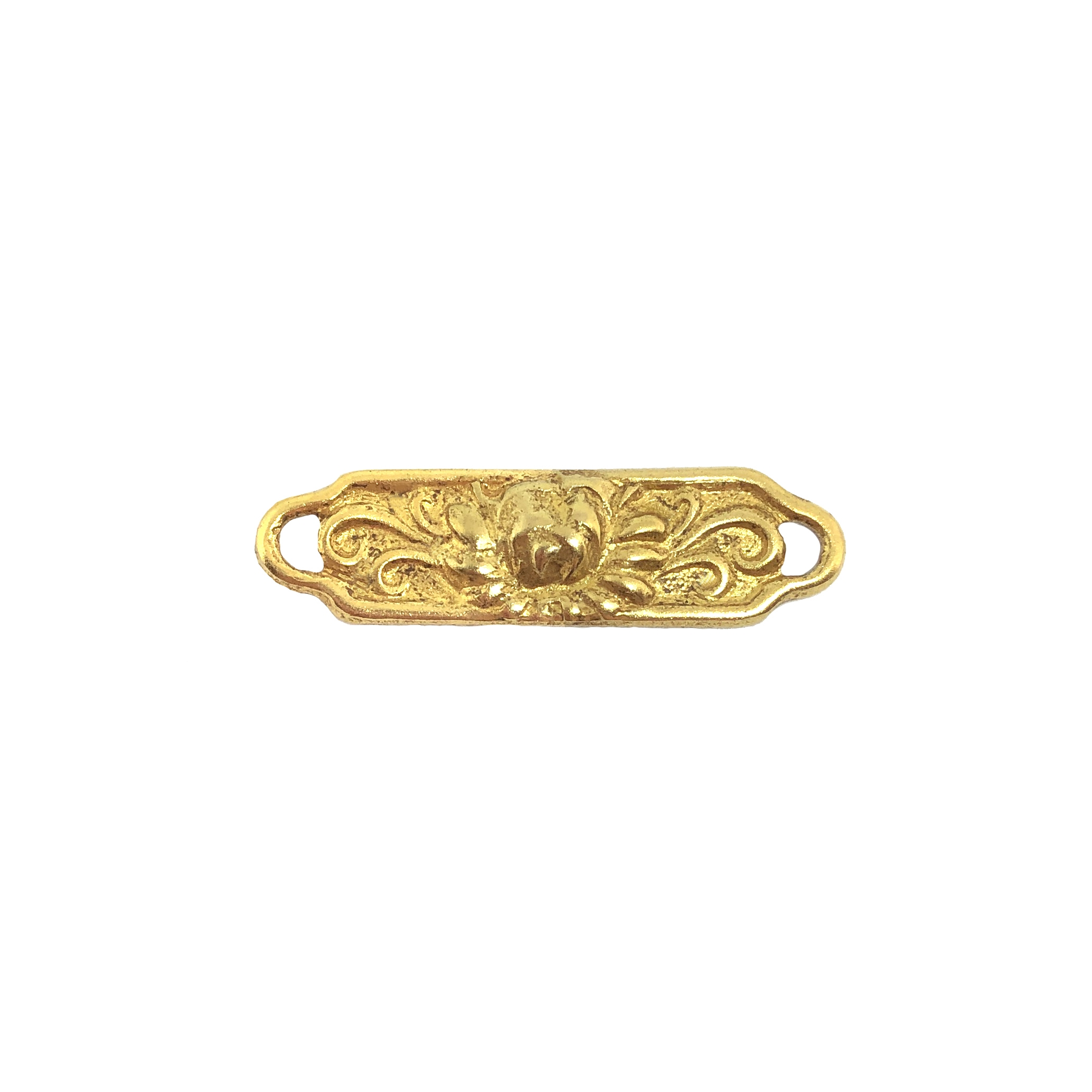blooming flower connector, classic gold, plated brass, flower, connector, flower connector, blooming flower, jewelry making, jewelry supplies, vintage supplies, jewelry connector, B'sue Boutiques, charm, earrings, chain connectors, jewelry findings, 09745