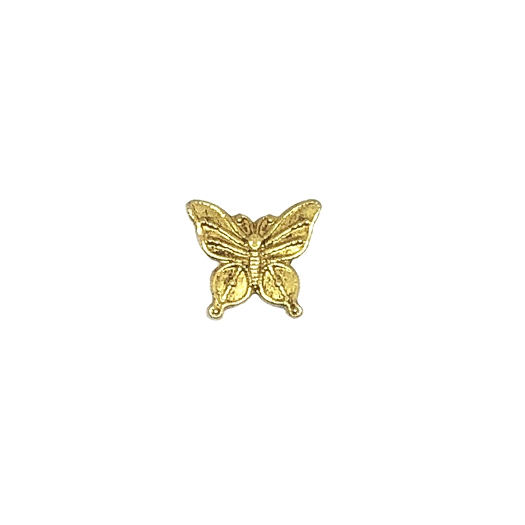 butterfly stampings, classic gold plate, gold, 11x12mm, butterfly, 09747, animals, critters, insects, B'sue Boutiques, jewelry supplies, butterfly jewelry, plated brass, butterflies
