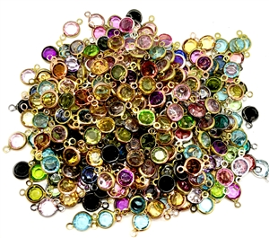 vintage charms, mixed colors, epoxy resin drops, wire wrapped chanels, assorted connectors, vintage jewelry supplies, jewelry making supplies, gold tone wire wrap,  round connectors, faceted stones, pendants, 04911