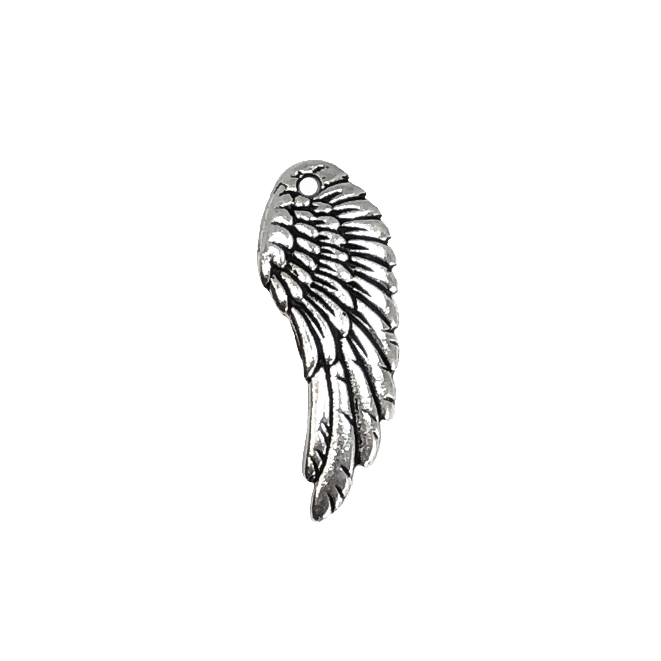 wings, bird wing, antique silver, 01003, Steampunk Art, vintage jewelry supplies, jewelry making supplies, jewelry parts, B'sue Boutiques, silver wings, silver, wings, bird, birds, feathers, charm, wing pendant