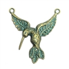 hummingbird, bronze, aqua patina, bird, bird casting, 40 x 38mm, bird jewelry, jewelry making, vintage supplies, jewelry supplies, jewelry findings, B'sue Boutiques, animal, stamping, animal stamping, 01205, pendant