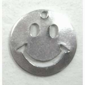 smiley face, happy face, silver, 01240
