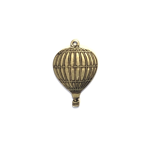 Hot air balloons, brass charms, brass stampings, brass ox, antique brass, black antiquing, vintage jewelry supplies, jewelry making supplies, brass jewelry parts, dirigible, nickel free, US made, bsueboutiques, 01367