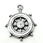ship's wheel, stamping, 02378, stamping, silverware silverplate, silver, boat wheel, ship, wheel, jewelry making, jewelry supplies, bsue boutiques, vintage stamping, vintage, vintage jewelry supplies,