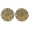 round filigree flower connectors, gold plated, zinc alloy, connectors, flower connectors, jewelry connectors, earring starter, 31mm, flower, zinc connectors, gold plated connectors, jewelry making, vintage supplies, jewelry supplies, floral design, 02763