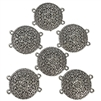 round filigree connectors, antique silver, filigree connectors, flower design connectors, connectors, jewelry connectors, floral connector, jewelry making, vintage supplies, jewelry supplies, jewelry findings, silver connectors, 02764