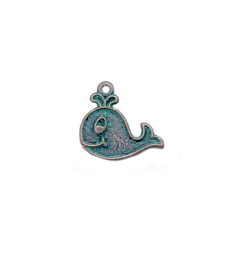 brass whale, fish charms, aqua patina, 03144, beach jewelry, vintage jewelry supplies, brass jewelry supplies, antique copper, fish jewelry, bsue boutiques, nickel free jewelry supplies, US made, bsue,