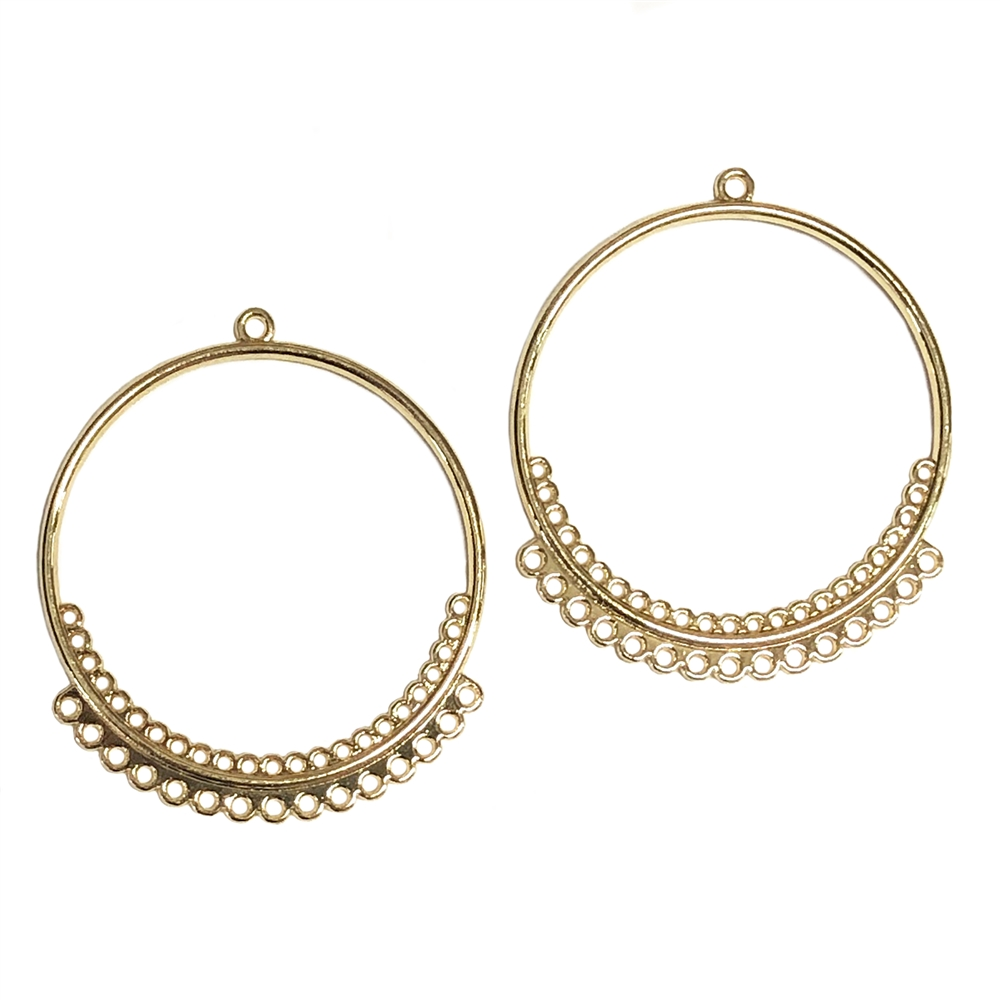 gypsy style ear drop, circle hoops, gold plated, earrings, gold, ear drops, circle design, gold ear drops, gypsy earrings, chandelier earrings, jewelry making, jewelry supplies, B'sue Boutiques, ear drops, 40x35mm, jewelry earrings, 0316