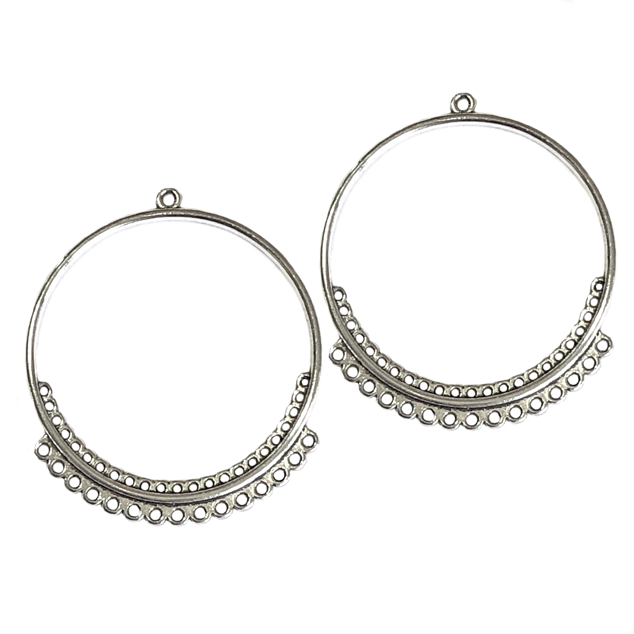 gypsy style ear drop, circle hoops, antique silver, earrings, gold, ear drops, circle design, silver ear drops, gypsy earrings, chandelier earrings, jewelry making, jewelry supplies, B'sue Boutiques, ear drops, 40x35mm, jewelry earrings, 0317