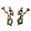 Dancing Charms, Brass Stampings, Jewelry Supplies, Right and Left, Men with Top Hats, Brass Ox,  24mm