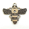 brass bee, bee charms, antique brass, 16 x 20mm