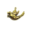 Bird Pendant, Bird Stampings, 03657, gold tone, B'sue Boutiques, jewelry supplies, jewelry making, birds, charms, pendants, gold bird charm