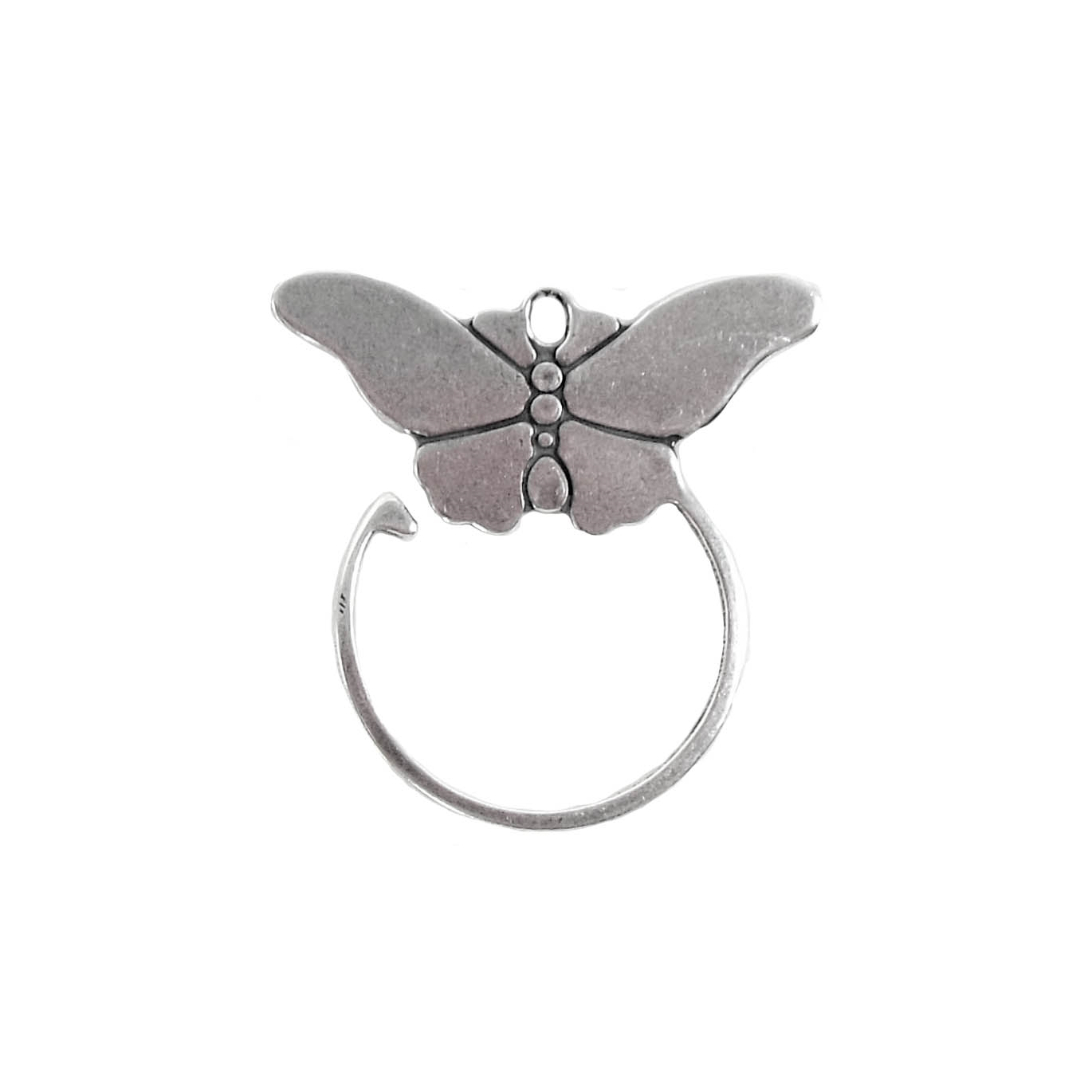 butterfly jewelry, antique silver, 27 x 25mm