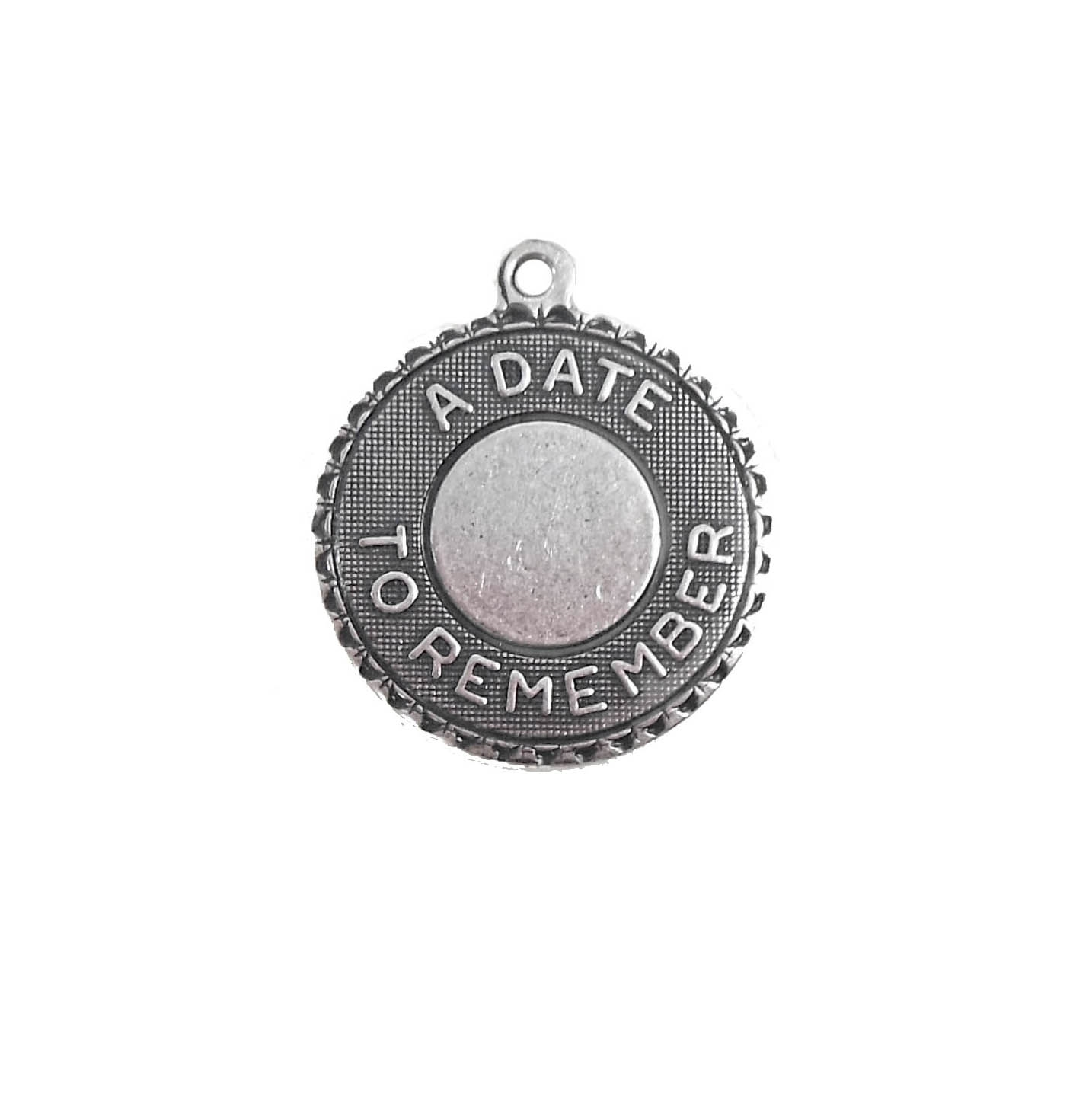 date charms, jewelry making,  antique silver, 18mm