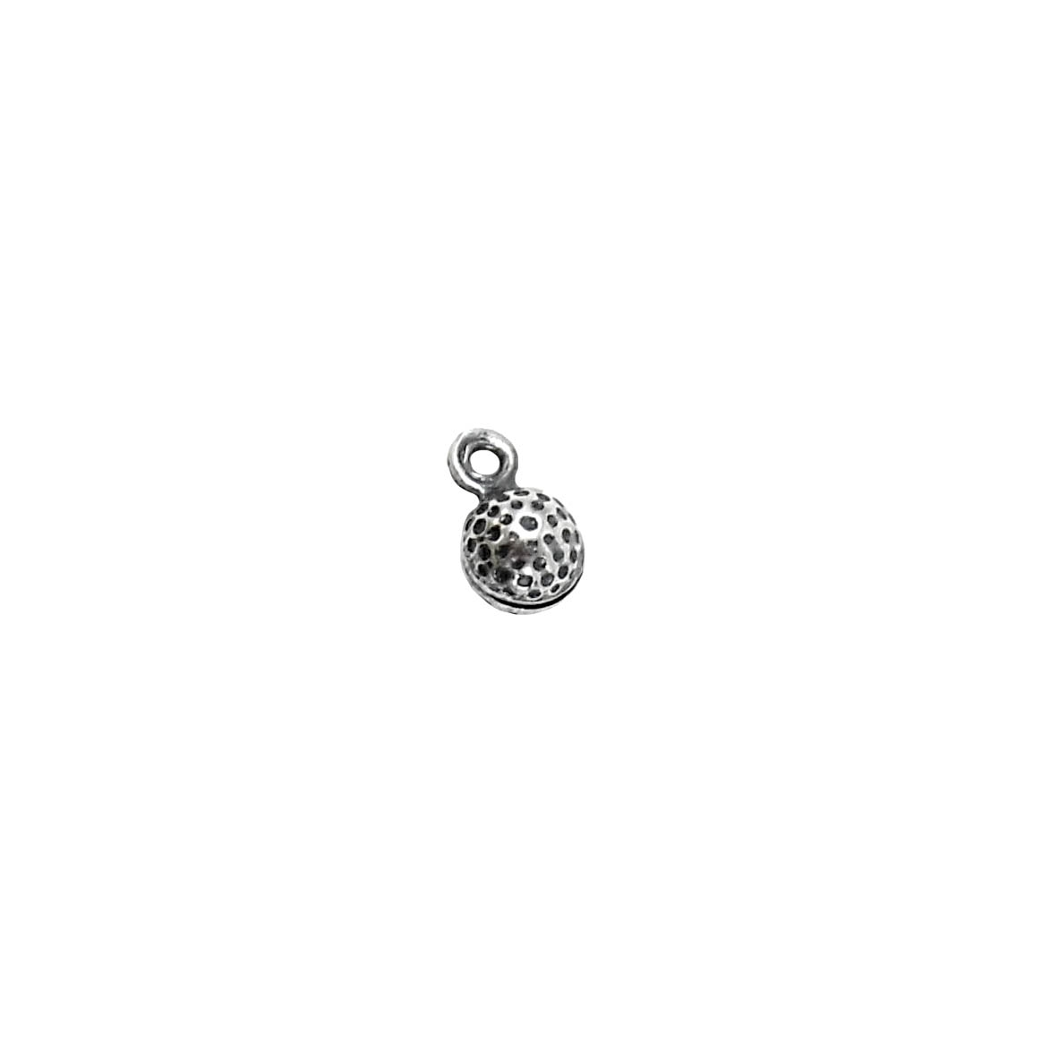 golfing charms, jewelry making, antique silver,5mm