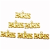 brass charms, Paris charms, jewelry supplies