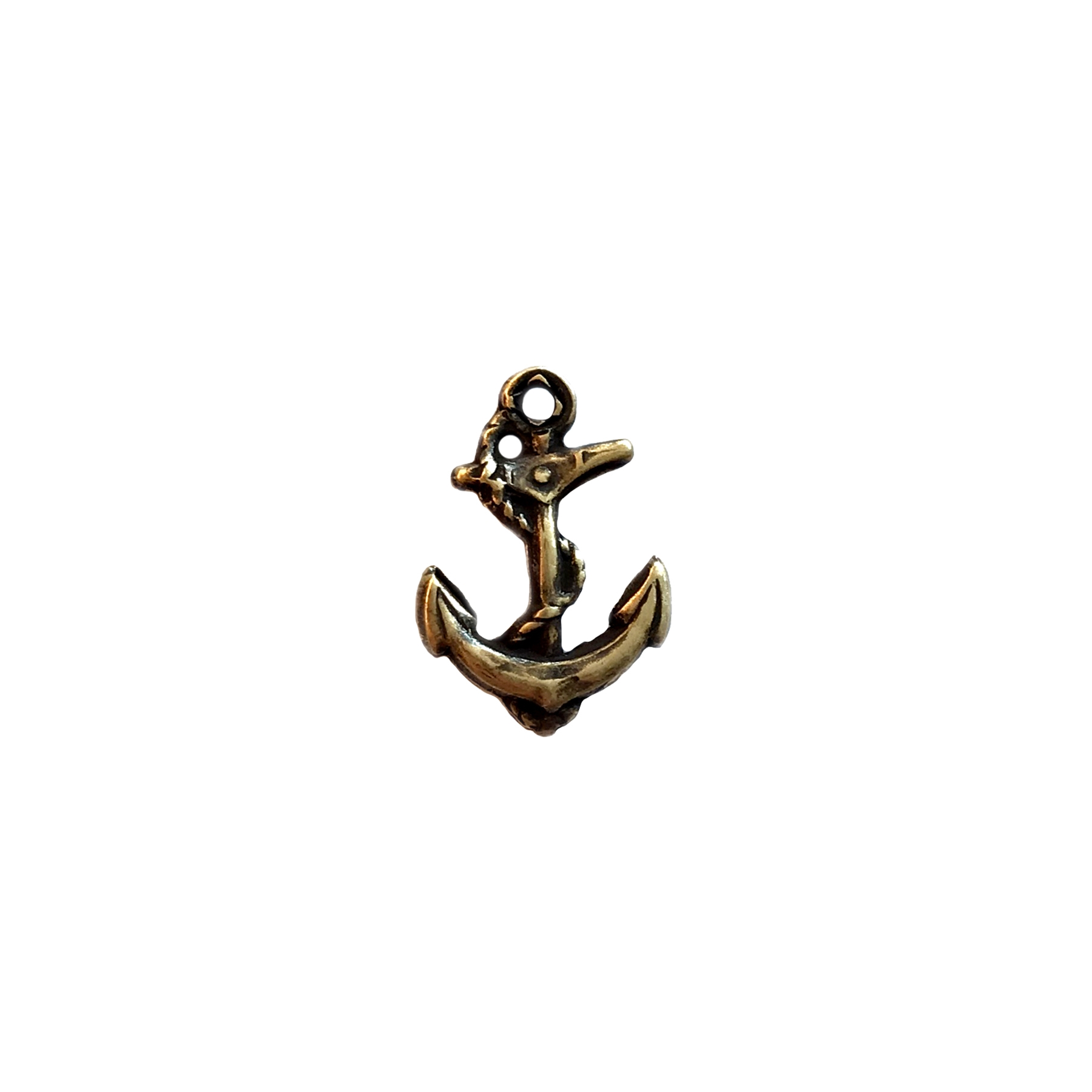 brass anchor, anchor charm, antique brass, brass ox, 15x10mm, vintage jewelry supplies, ocean jewelry, sea jewelry, brass, anchor, beach jewelry, jewelry findings, jewelry making, vintage supplies, jewelry supplies, charms, B'sue Boutiques, 04480
