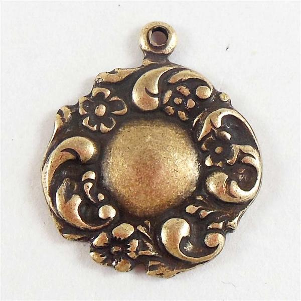 Vintage brass charm #4