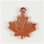 Maple Leaf Charm, Rose Ox, Charms, Leaf, Charm Accents, Copper, Copper Charms, Maple Leaf, 10 x 10mm, Pendent, Antique Copper,