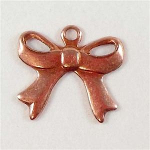 brass charms, bow charms, jewelry making