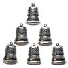 brass thimbles, thimble charms, silverware silver plate, antique silver, sewing charms, bsueboutiques, US made, nickel free, jewelry making supplies, vintage jewelry supplies, brass findings, 05787