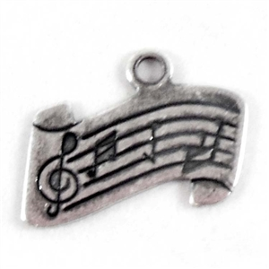 brass charms, music charms, jewelry making, 16x9mm