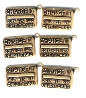 credit card charms, brass ox, 06431