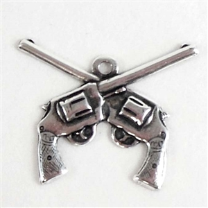 brass guns, gun charms, cowboy jewelry,sp
