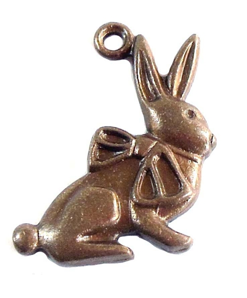 bunny charm, rabbit charm, 07402, charm, chocolate ox, animals, animal, animal charm, jewelry supplies, jewelry making, Bsue Boutiques, bunny