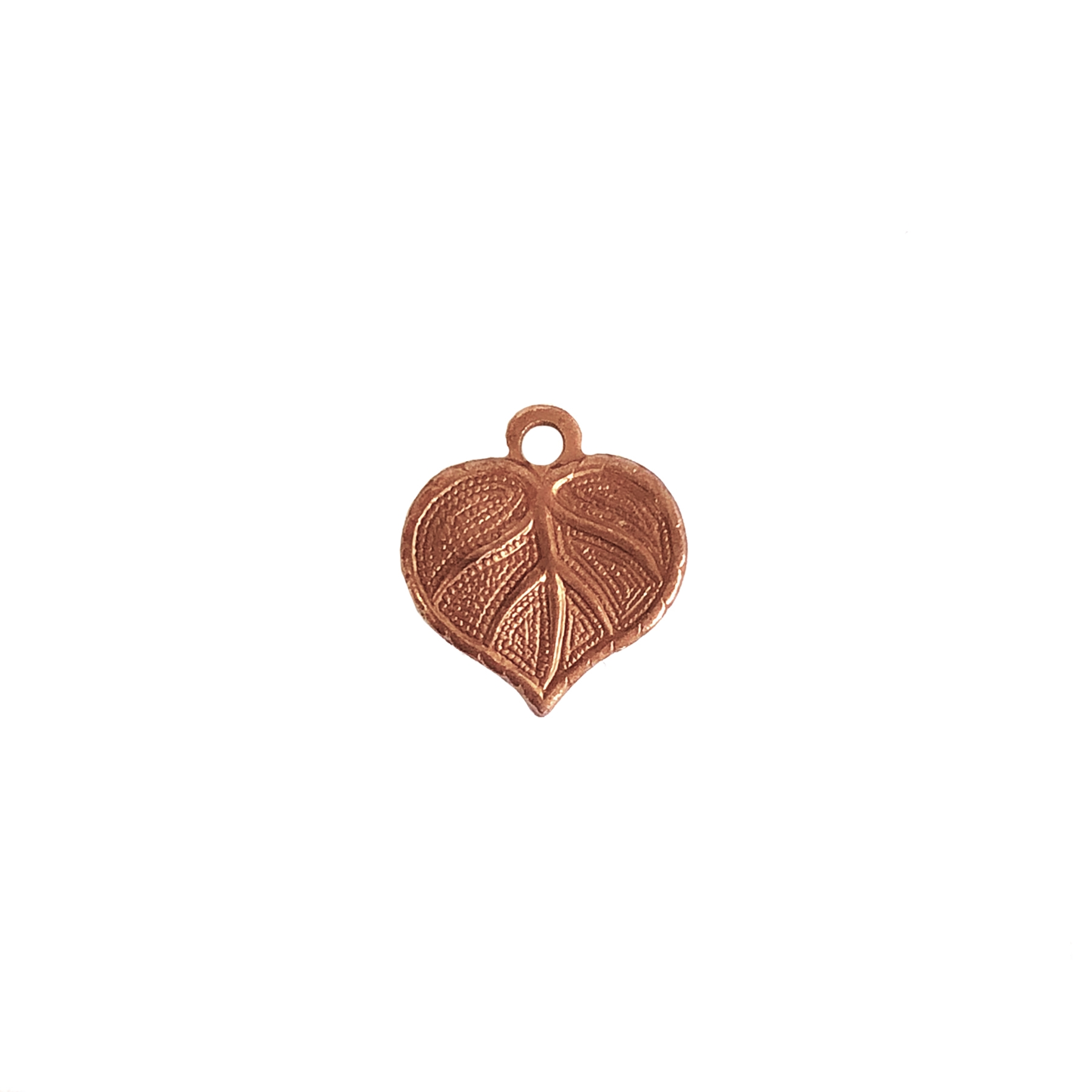 brass leaf charms, brass leaves,  charm accents, gingerbread brass, jewelry making supplies, vintage jewelry supplies, antique copper, US-made, nickel-free, bsueboutiques, leaf charms, 0760, 13x12mm