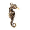 brass seahorse,beach jewelry, jewelry making,07726, B'sue Boutiques, US made jewelry, nickel free jewelry, vintage jewellery supplies, jewelry making supplies, puffy charms, seahorse charms, black antiquing, brass charms