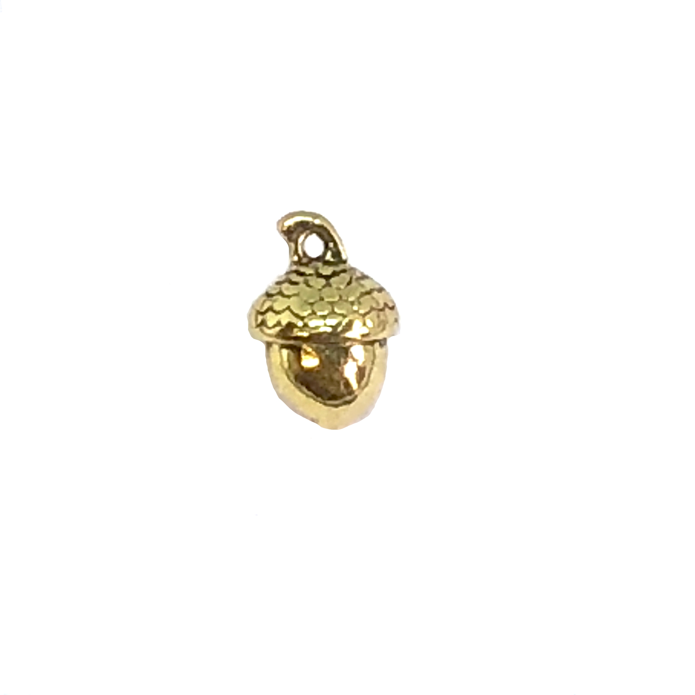 cast acorn charms, heavy gauge, gold plate, 07857, jewelry making supplies, cast jewelry, bsueboutiques, steampunk art, vintage jewelry supplies, charm accents, acorn charms,