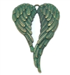 cast wings, wing stampings, wing pendant, Steampunk jewelry, 50x47mm, patina gold and green, B'sue Boutiques, jewelry making, vintage supplies, jewelry supplies, jewelry findings, 07861, steampunk wings
