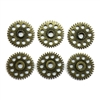 Bronze Gears, Cog Wheels, Steampunk, Stampings, Drilled, Wheels, Gears, Cogs, 25mm, Lead Free, Jewelry Findings, Vintage Supplies, Jewelry Supplies, B'sue Boutiques, 07892