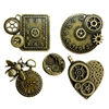 Steampunk Clocks and gears, Charms, 07893, clock embellishments, clock charms, bee pendant,  jewelry making supplies, cast jewelry, bsueboutiques, steampunk art, steampunk clock, clock jewelry, cast bronze
