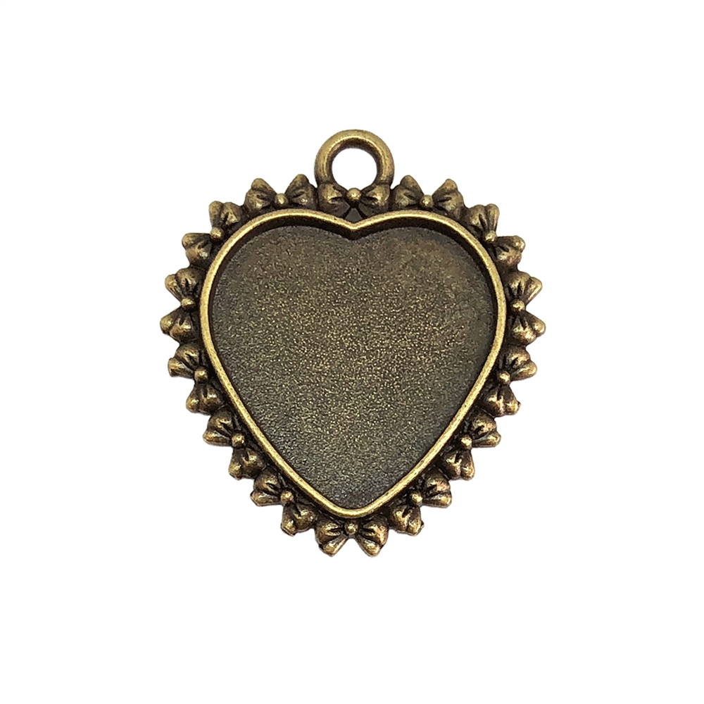 Heart Pendant, Heart Charm, 07903, cast zinc, bronze finish, 31x27mm, vintage jewelry supplies, heart,  jewelry findings, jewelry making, vintage supplies, jewelry supplies, charms, B'sue Boutiques