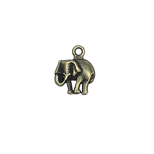 bronze elephants, elephant charms, 07956, B'sue Boutiques, lead free, jewelry supplies, cast zinc, black antiquing, circus animals, elephant jewelry, jungle, animals, safari, charms, animal charm