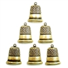 brass thimbles, thimble charms, brass ox, antique brass, sewing charms, bsueboutiques, US made, nickel free, jewelry making supplies, vintage jewelry supplies, brass findings, 08231