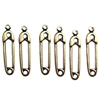 Brass Charms, Safety Pin Style, Brass Ox, 20mm