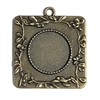 Cast Victorian Pendant Mount, floral vine border, cameo charm, 08260, mount, jewelry mount, jewelry supplies, B'sue Boutiques, 36x36mm mount, bronze finish, pendant, jewelry making supplies,