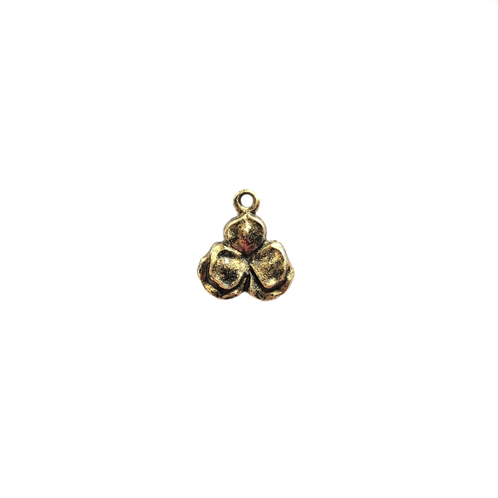 small floral charm, brass ox, antique brass, floral charm, charm, ear drops, stamping, floral stamping, drop, floral design, 11mm, jewelry making, jewelry supplies, vintage supplies, B'sue Boutiques, 087