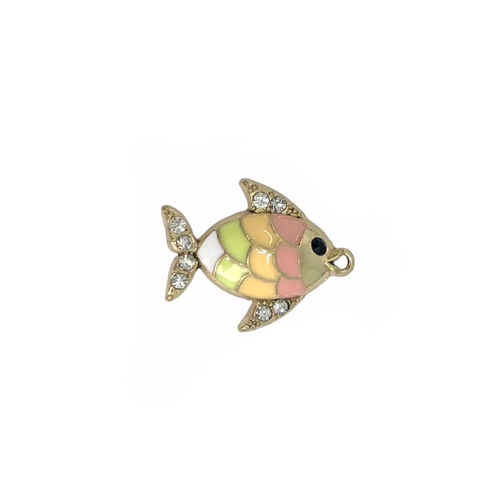 rainbow fish, fish charms, zinc metal alloy, 08884, beach jewelry, vintage jewelry supplies, brass jewelry supplies, gold plated, fish jewelry, bsue boutiques, nickel safe, jewelry supplies, beach, ocean, sea life, fish