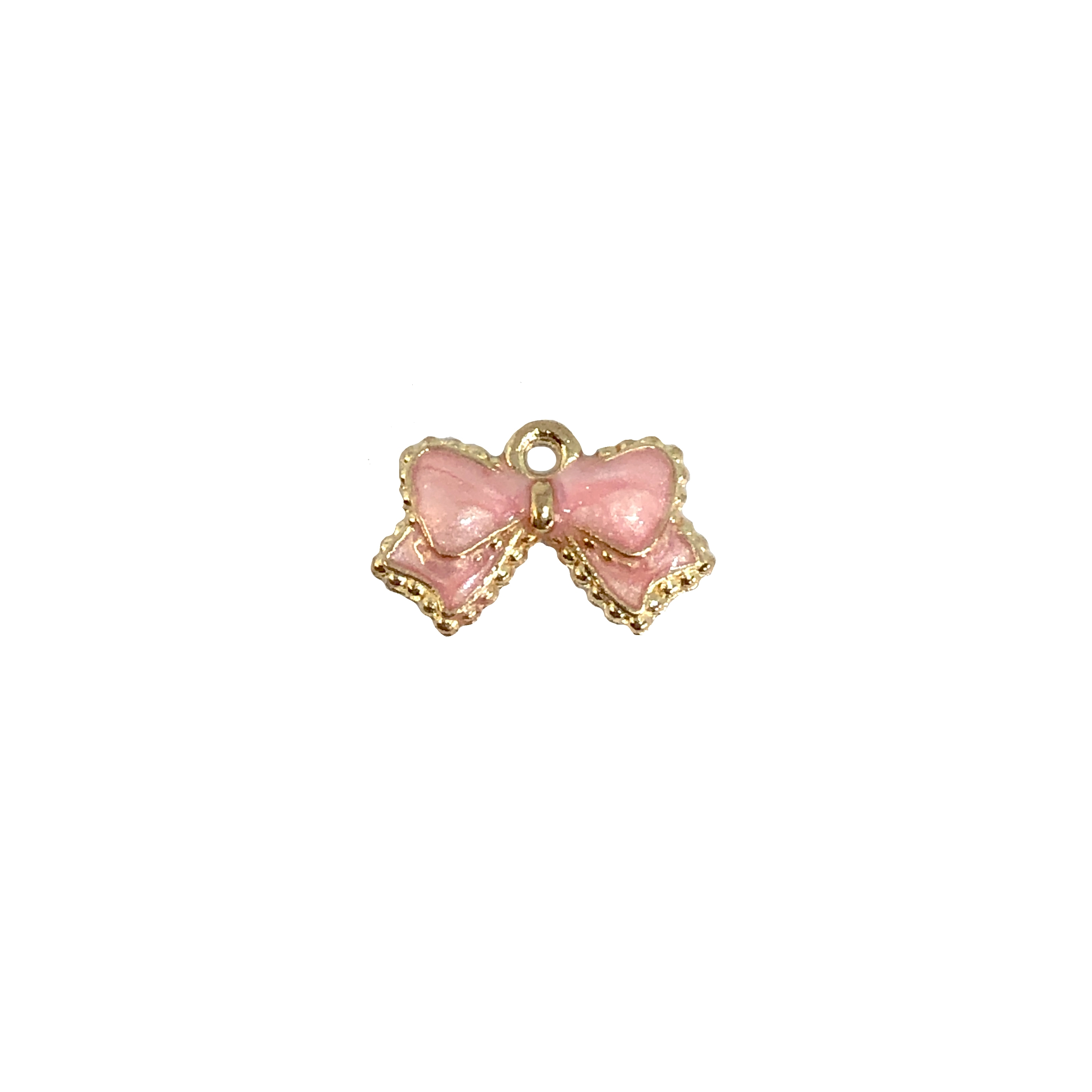 bow charms, pink bow, gold plated, 08885, zinc alloy, pink enameling, enamel, gold bow, bow, bow charm, charm, pink, Bsue Boutiques, jewelry findings, jewelry supplies, charms